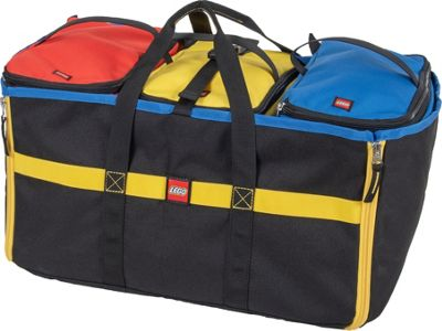 LEGO 4-Piece Toy Organizer Tote - Black with Blue, Red