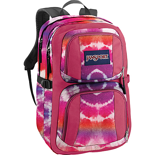 JanSport The Merit Backpack Pink Prep Hippy Skip - Backpacks, Laptop Backpacks