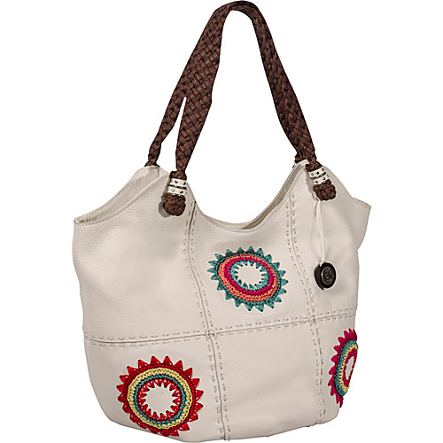 The Sak Indio Leather Large Tote White Starburst - The Sak Leather Handbags