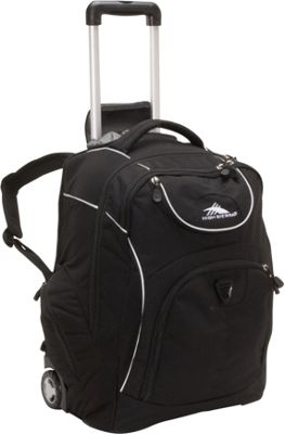 High Sierra Powerglide Rolling Backpack Black
