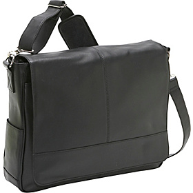 Nappa Leather Messenger Bag Black