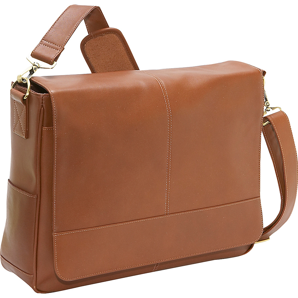 Royce Leather Royce Leather Messenger Bag - Tan - Work Bags & Briefcases, Messenger Bags