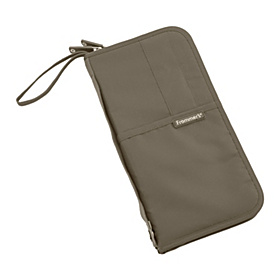 Foxtrot Travel Wallet Taupe Brown