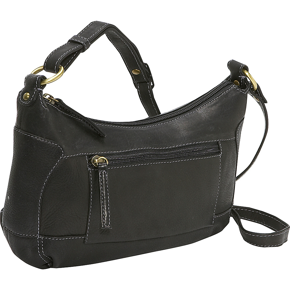 Derek Alexander Compact Top Zip Handbag - Black - Handbags, Leather Handbags