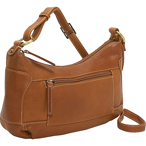 Derek Alexander Compact Top Zip Handbag - Tan