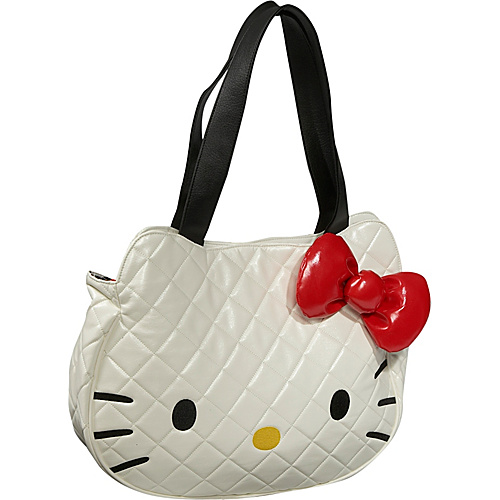 Loungefly Hello Kitty White Quilted Face Bag - Tote