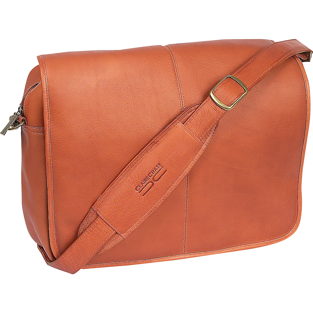 ClaireChase Luxury Messenger Brief Saddle ClaireChase Messenger Bags