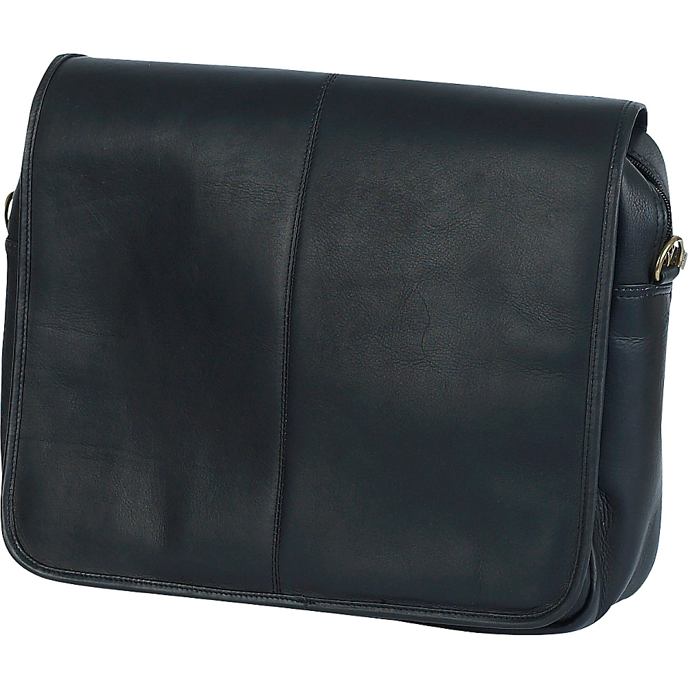 ClaireChase Luxury Messenger Brief Black