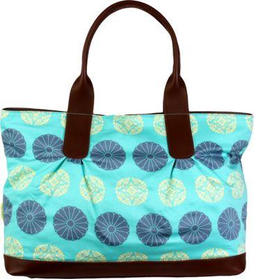 Image of Amy Butler for Kalencom Abina Tote Pressed Flowers Mint - Amy Butler for Kalencom Fabric Handbags
