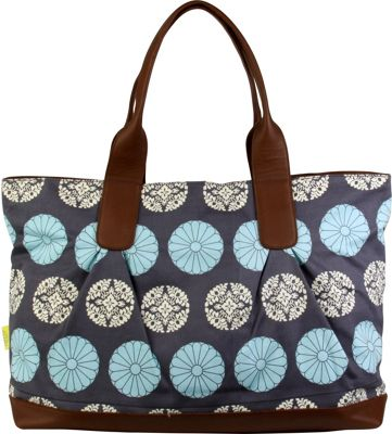 Amy Butler for Kalencom Abina Tote Pressed Flowers Sky - Amy Butler for Kalencom Fabric Handbags