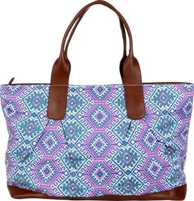 Image of Amy Butler for Kalencom Abina Tote Camel Blanket/Cloud - Amy Butler for Kalencom Fabric Handbags