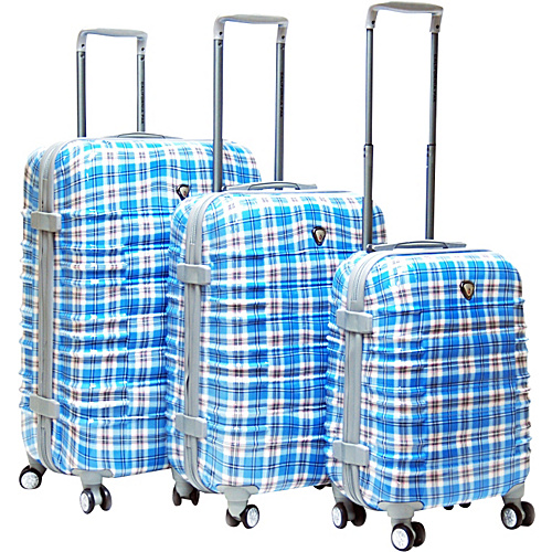CalPak Impulse 3 Pc Hardside Spinner Luggage Set - Blue