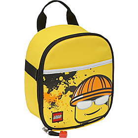 Vertical Lunch Bag - Construction Minifigure Yellow