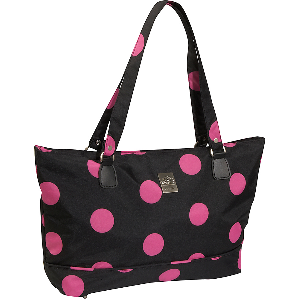 Jenni Chan Dots Computer Tote - Black Pink - Work Bags & Briefcases, Women's Business Bags