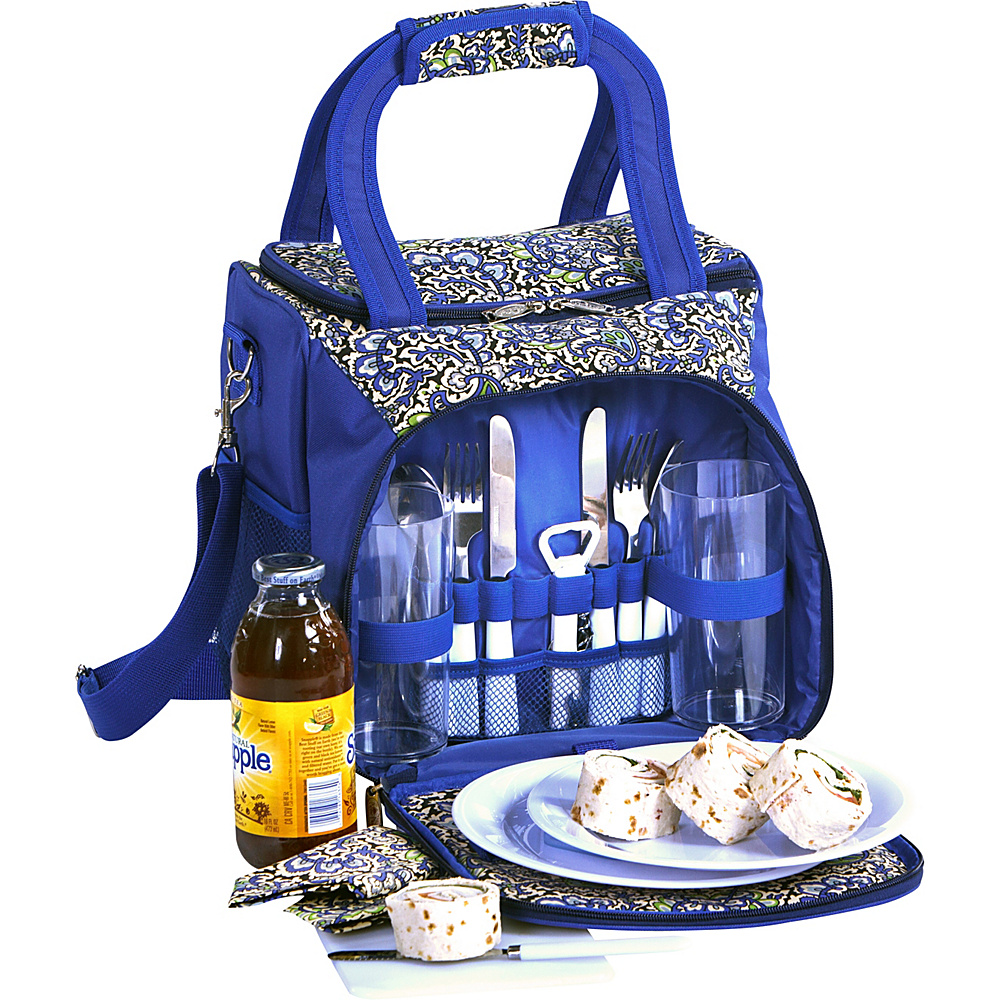 Picnic Plus Bailey Picnic Tote English Paisley - Picnic Plus Travel Coolers