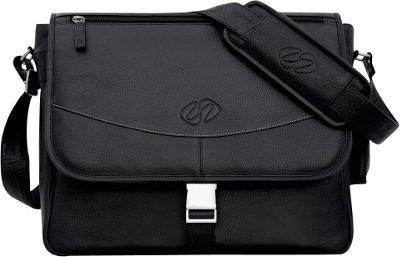 MacCase Premium Leather Small Shoulder Bag - Black