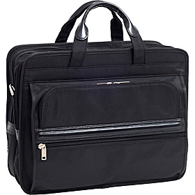 P Series Elston Nylon Double Compartment Laptop Case Black