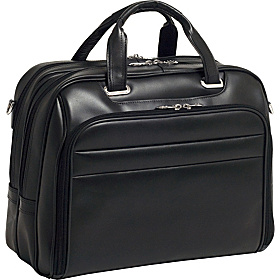 R Series Springfield Leather Laptop Case Black