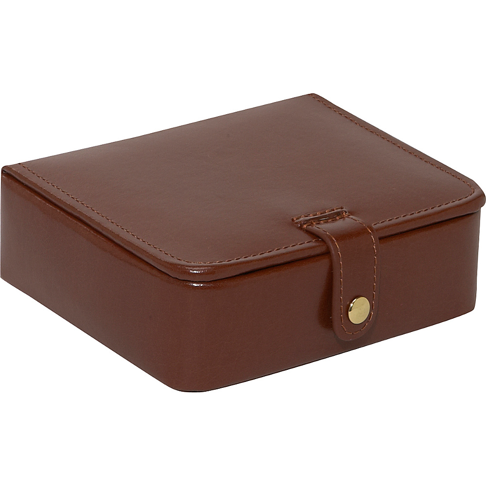 Budd Leather Leather Stud Ring Box Brown Budd Leather Business Accessories