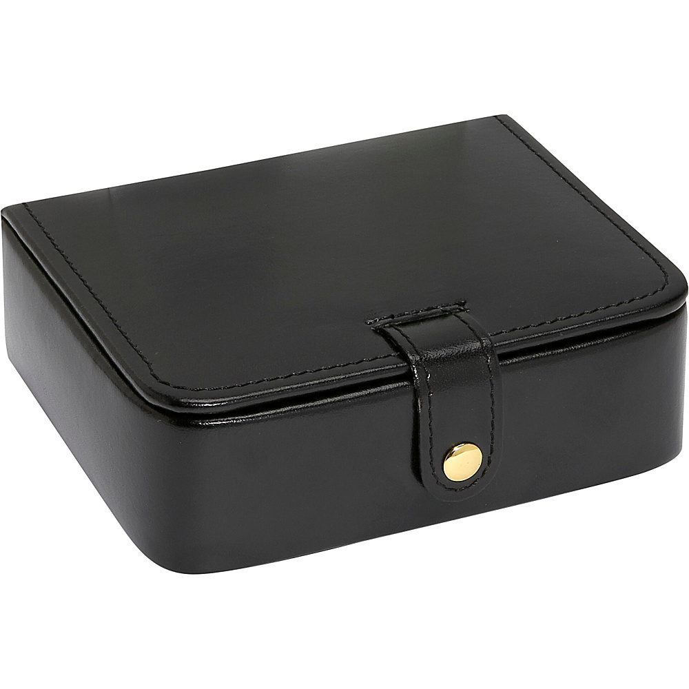 Budd Leather Leather Stud Ring Box Black Budd Leather Business Accessories