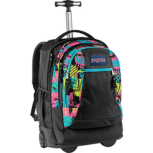 5ab36fc699da5 Jansport Driver 8 Rolling Backpack – Black fluorescent Street Scene ...