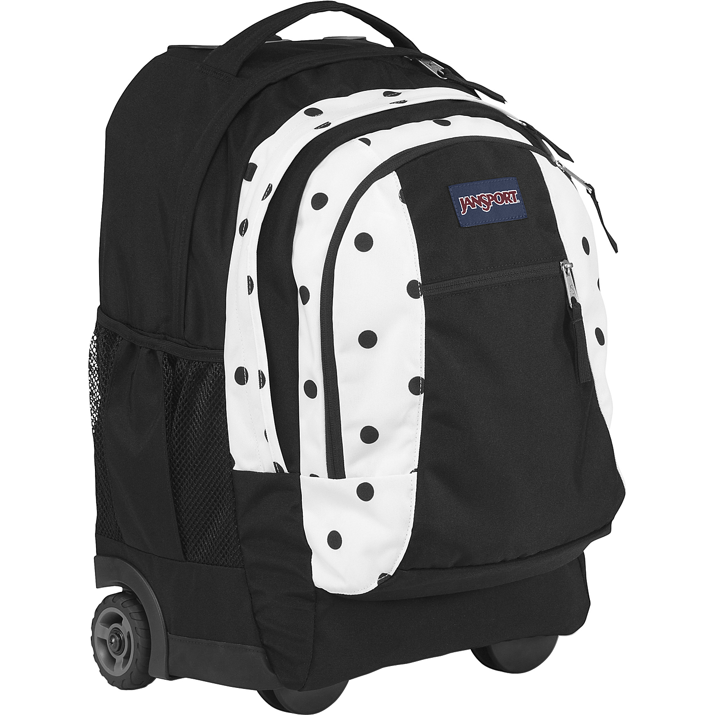 3d925dcdac Driver 8 Rolling Backpack White   Black Gracie Dot JanSport Wheeled B