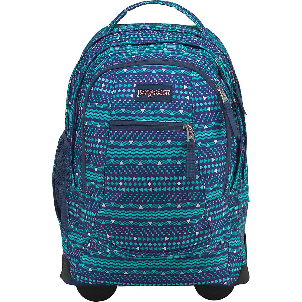 JanSport Driver 8 Rolling Backpack Tribal Wave Tonal - JanSport Rolling Backpacks