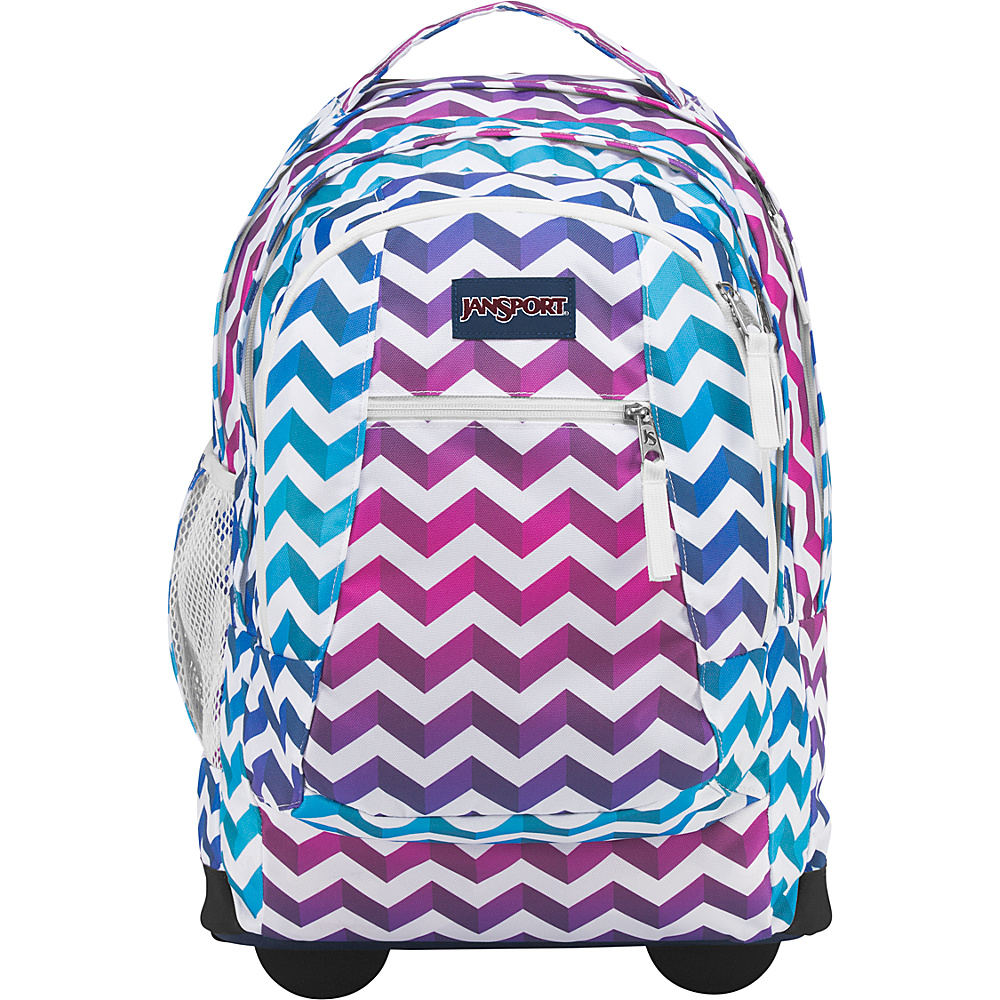 JanSport Driver 8 Rolling Backpack Shadow Chevron - JanSport Rolling Backpacks
