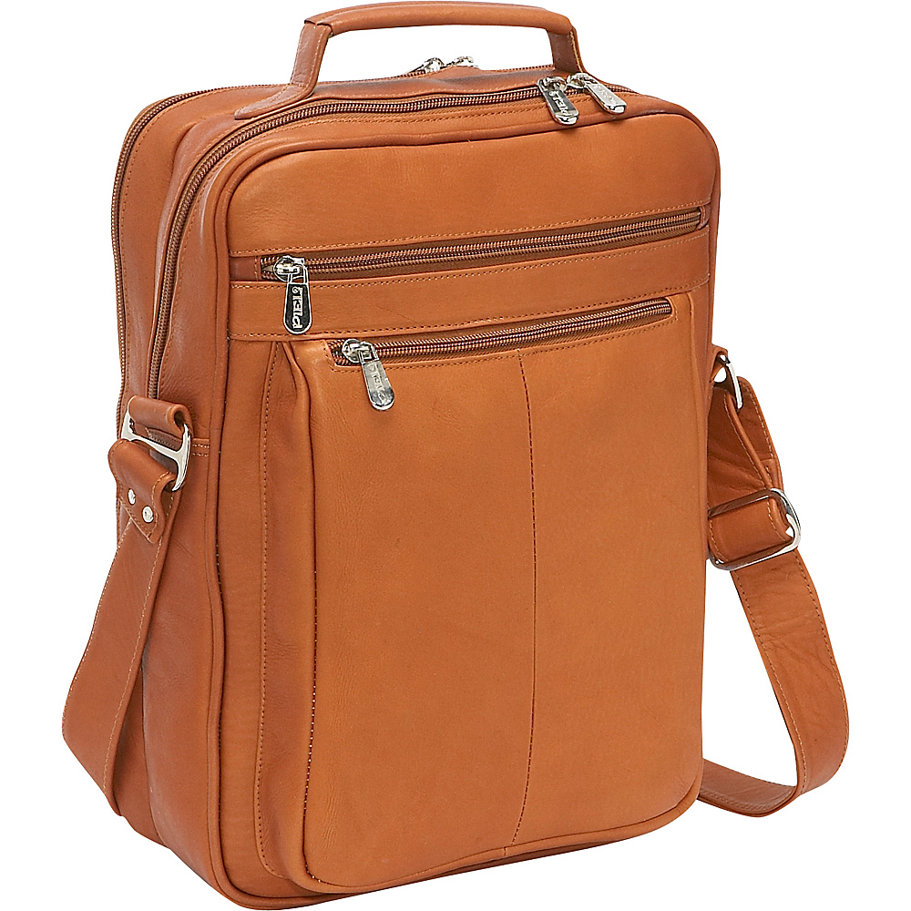 Piel Laptop Shoulder Bag Saddle