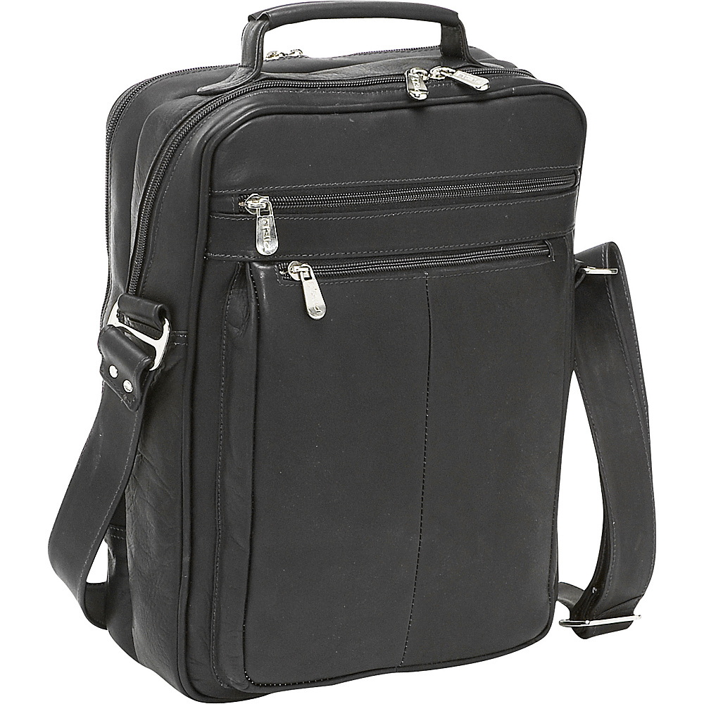 Piel Laptop Shoulder Bag Black