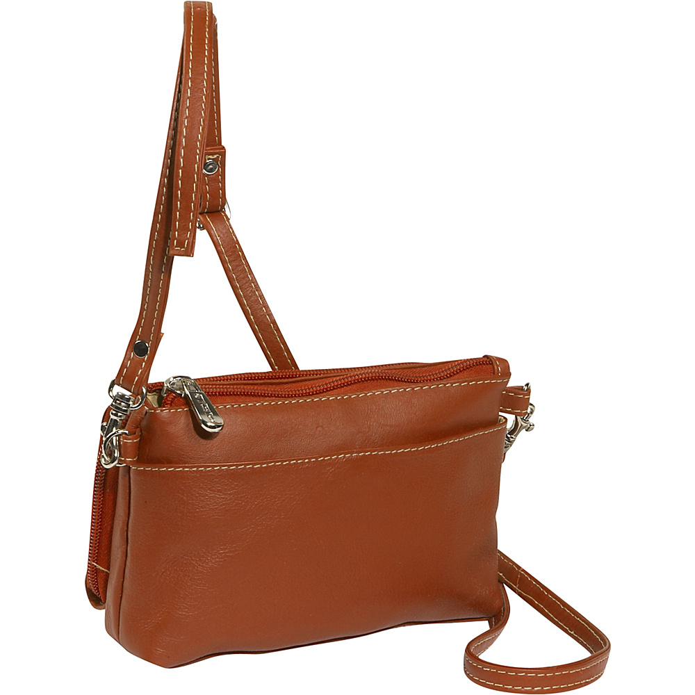 Piel Shoulder Bag Wristlet Saddle