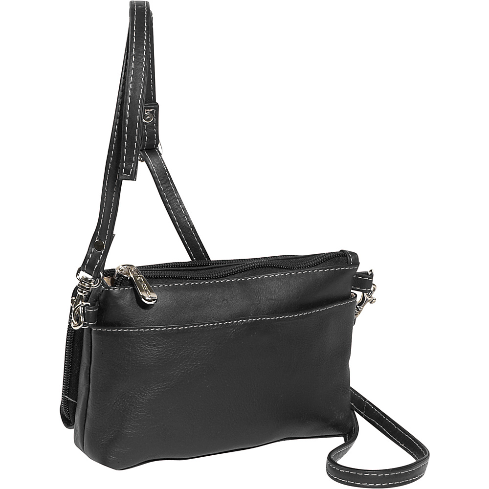 Piel Shoulder Bag/Wristlet - Black - Women's SLG, Women's Wallets
