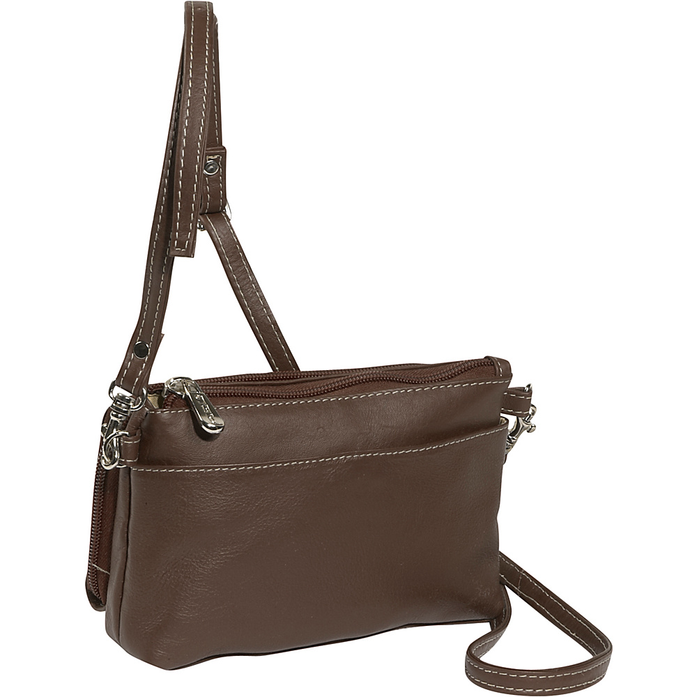 Piel Shoulder Bag/Wristlet - Chocolate - Women's SLG, Women's Wallets