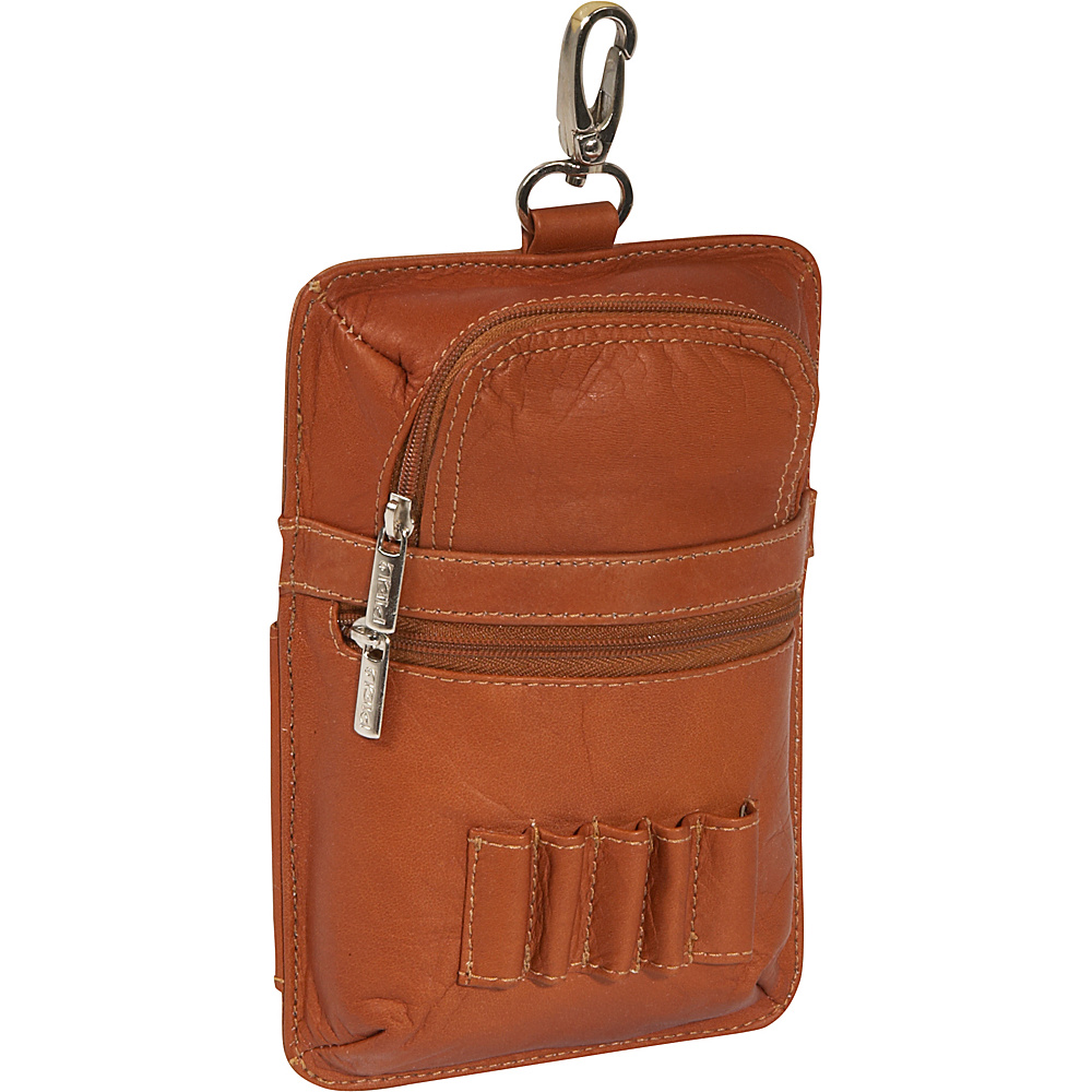 Piel Leather All in One Golf Pouch - Saddle