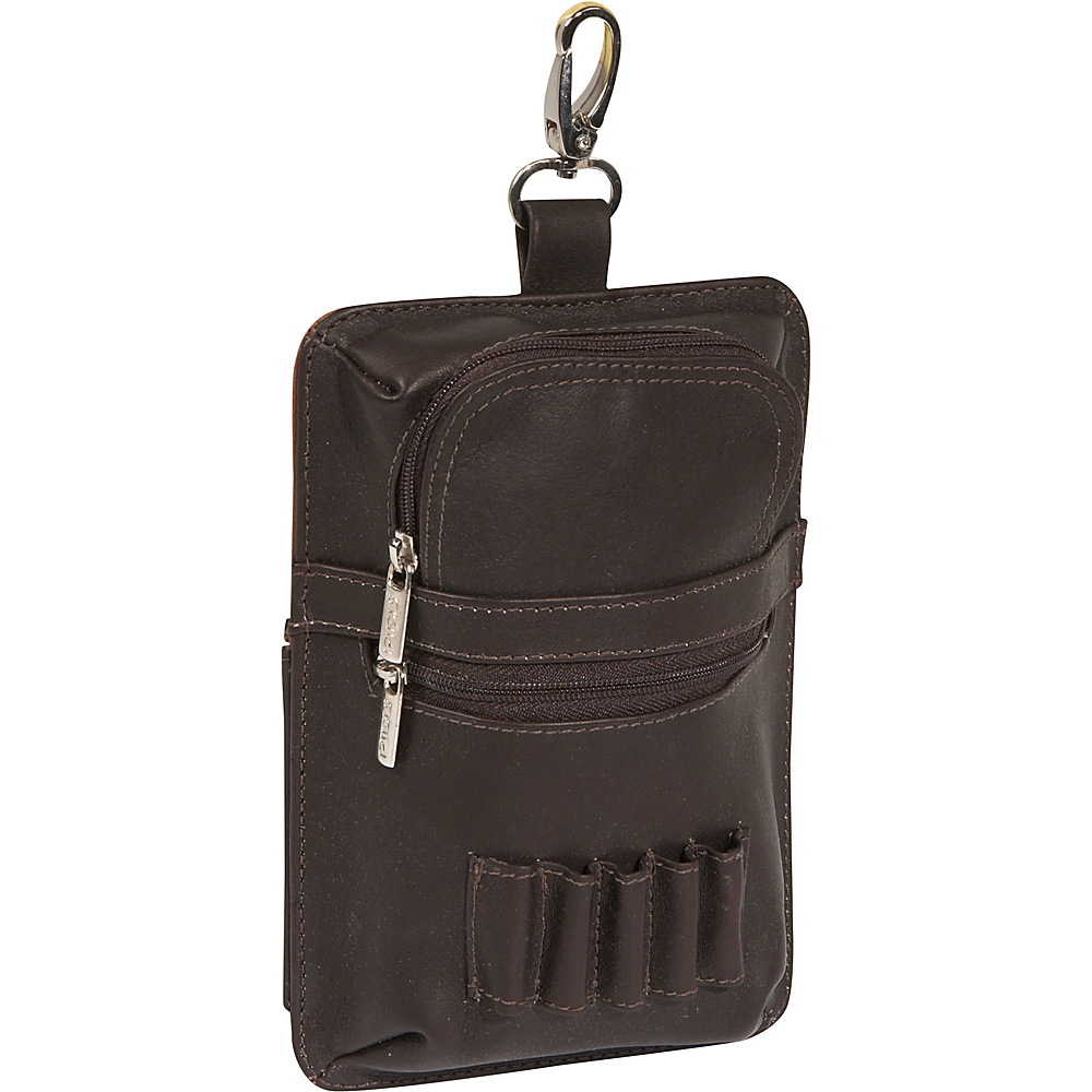 Piel All In One Golf Pouch - Chocolate - Sports, Sports Accessories