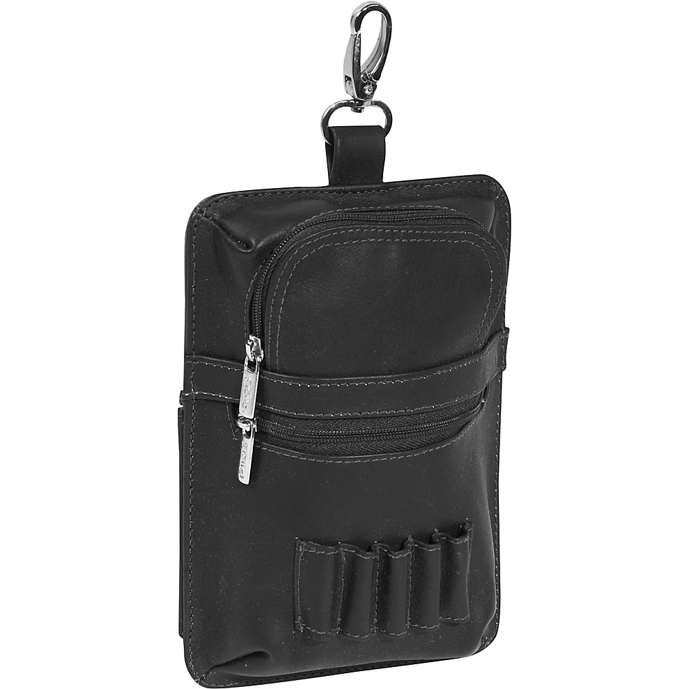 Piel All In One Golf Pouch - Black - Sports, Sports Accessories