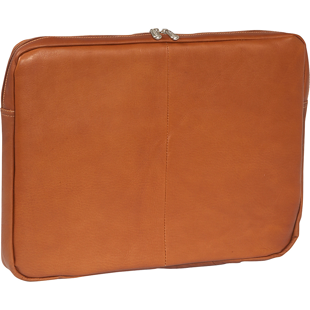 Piel 17 Zip Laptop Sleeve Saddle