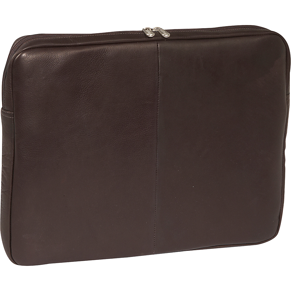 Piel 17 Zip Laptop Sleeve - Chocolate - Technology, Electronic Cases