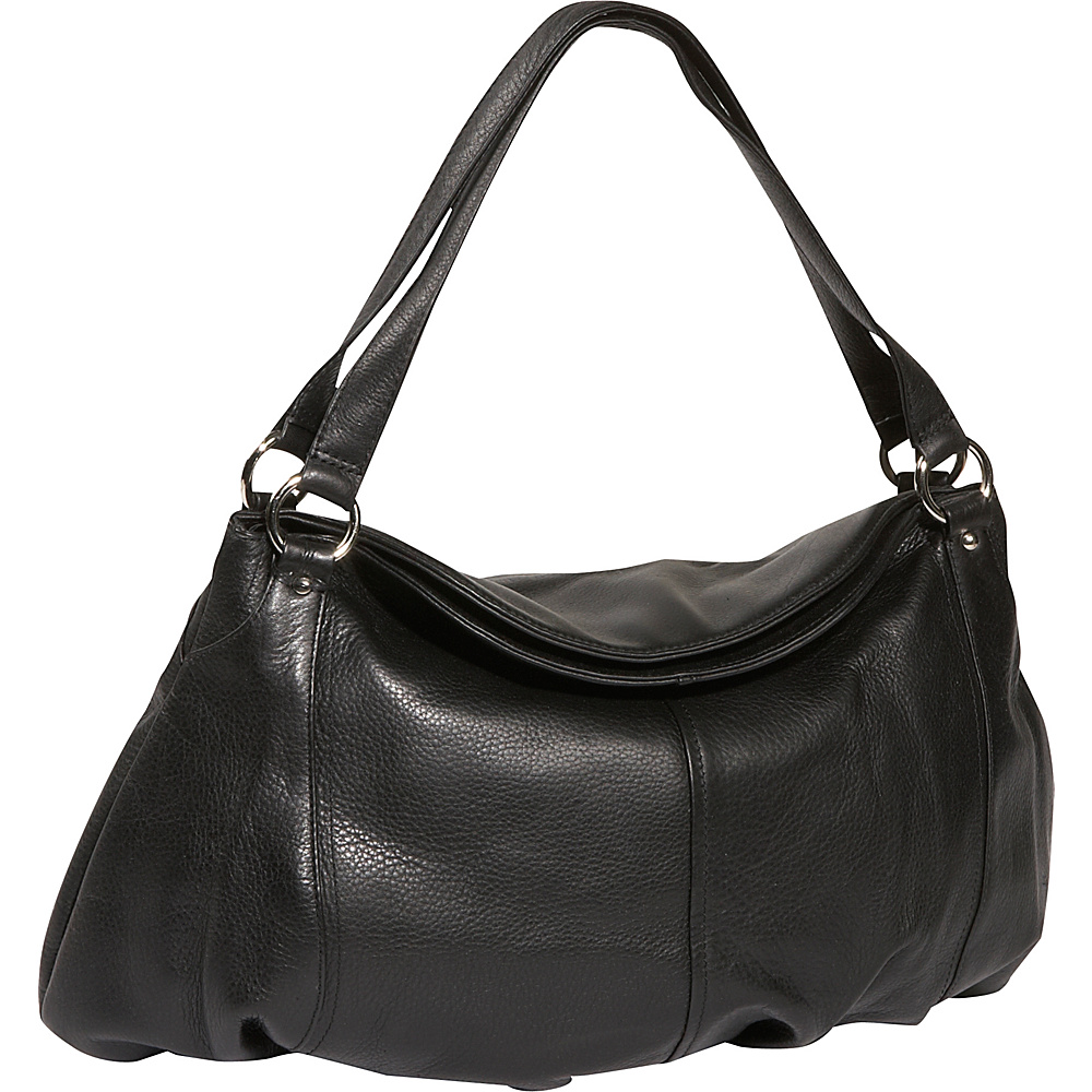 Derek Alexander Large Gathered Pouch Handbag Black