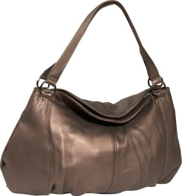 Derek Alexander Large Gathered Pouch Handbag - Bronze