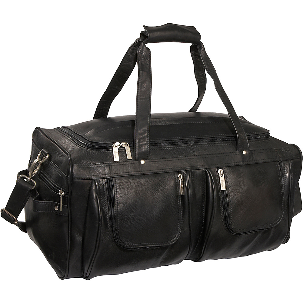 Royce Leather Vaquetta Nappa Duffel Bag - Black - Duffels, Travel Duffels