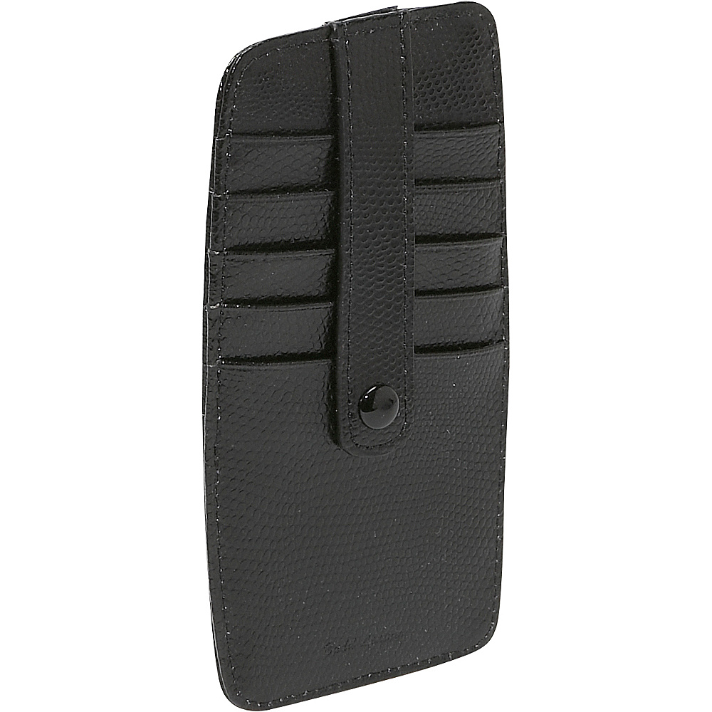 Budd Leather Flat 10 Credit Card Stacker Black