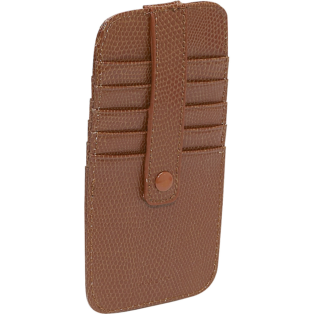 Budd Leather Flat 10 Credit Card Stacker Cognac