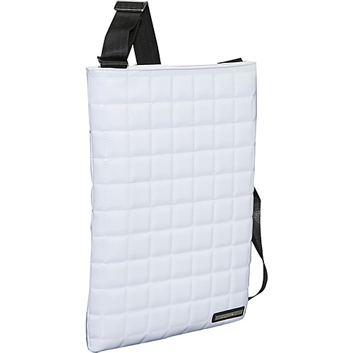 Earth Axxessories Quilted RPET Laptop Bag - White
