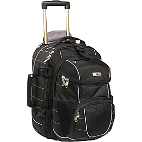 A.T. Gear Ultimate Access Carry-On Wheeled Backpack w/ Removable Day Pack Black