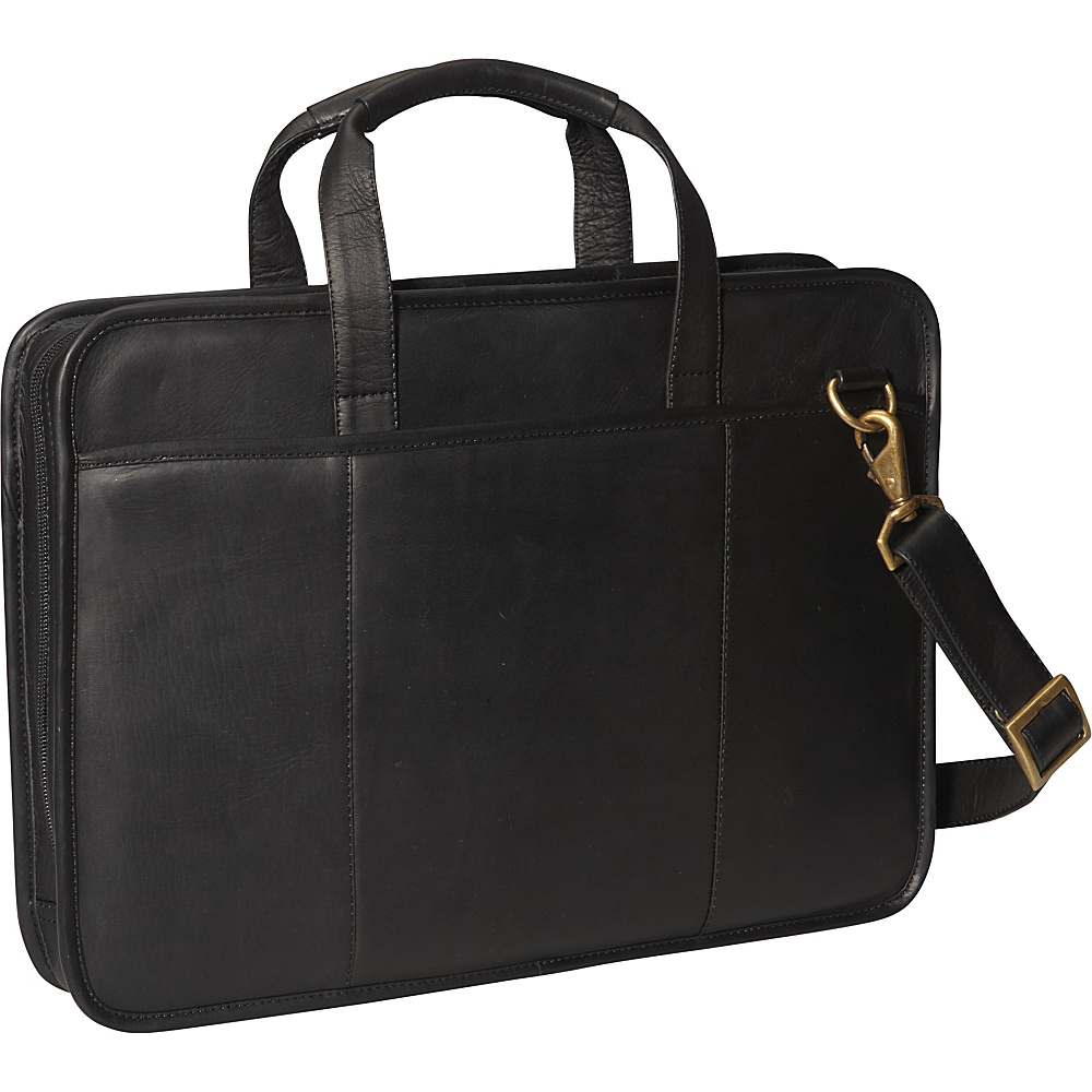 ClaireChase Small File Brief - Black - Work Bags & Briefcases, Non-Wheeled Business Cases