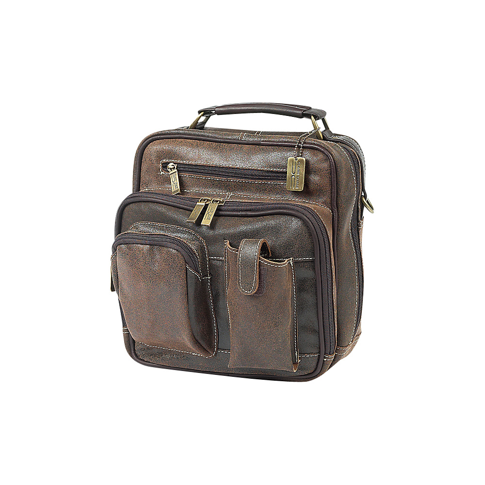 ClaireChase Jumbo Man Bag - Distressed Brown - Work Bags & Briefcases, Other Men's Bags