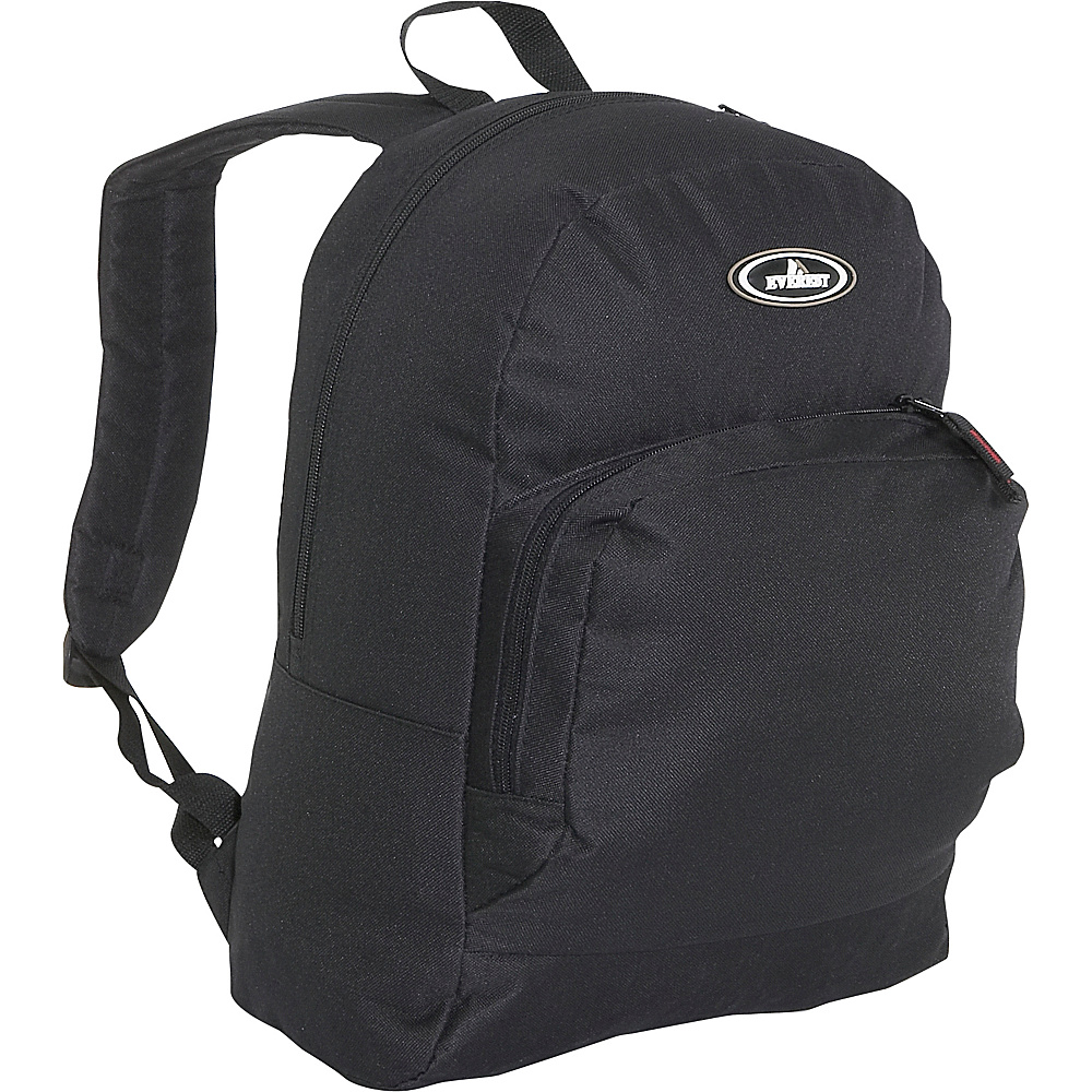 Everest Classic Backpack with Organizer - Black - Backpacks, Everyday Backpacks