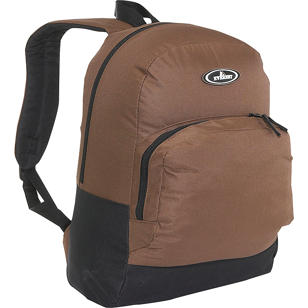 Everest Classic Backpack with Organizer - Brown/Black - Backpacks, Everyday Backpacks