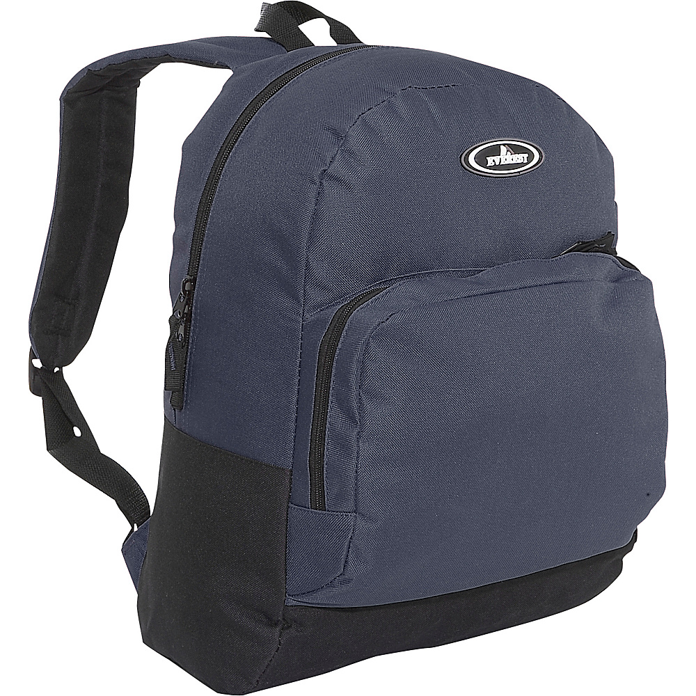 Everest Classic Backpack with Organizer - Navy/Black - Backpacks, Everyday Backpacks